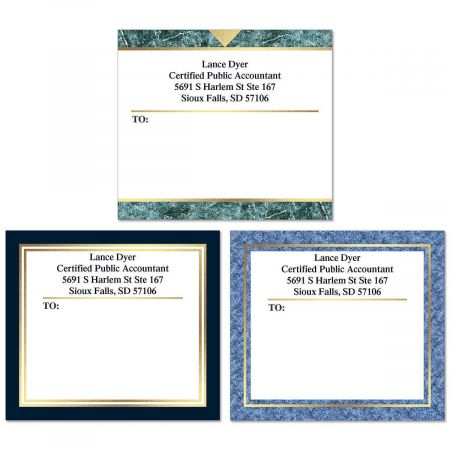 Foil Accents Mailing Package Label  (3 Designs)