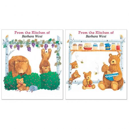 Bear Lodge Buddies Canning Jar Labels  (2 Designs)