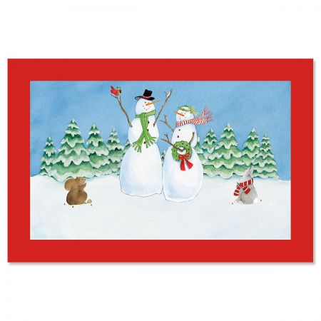 SnowFamily Personalized Welcome Doormat