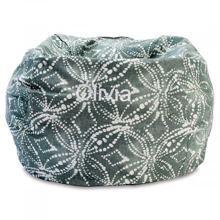 Waterbury Personalized Green Bean Bag Chair