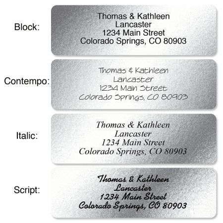 Silver Foil with Symbol Standard Rolled Address Labels