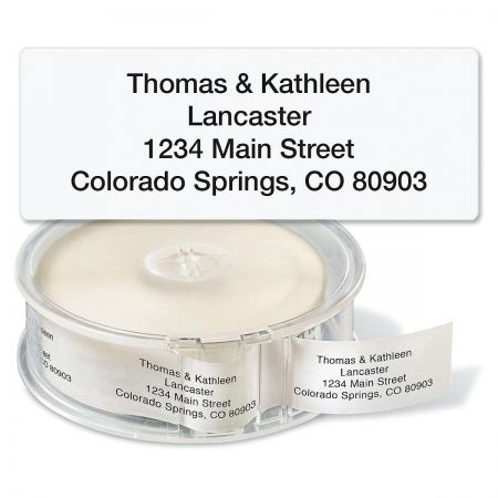 Clear Standard Rolled Address Labels