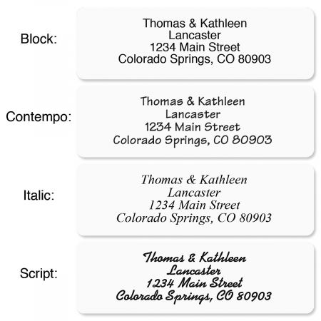 White with Symbol Standard Rolled Address Labels