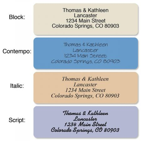 Stonewashed Standard Rolled Address Labels  Current Catalog