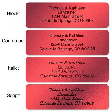 red foil rolled address labels current catalog