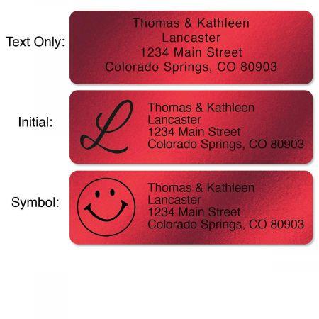 Red Foil Rolled Address Labels