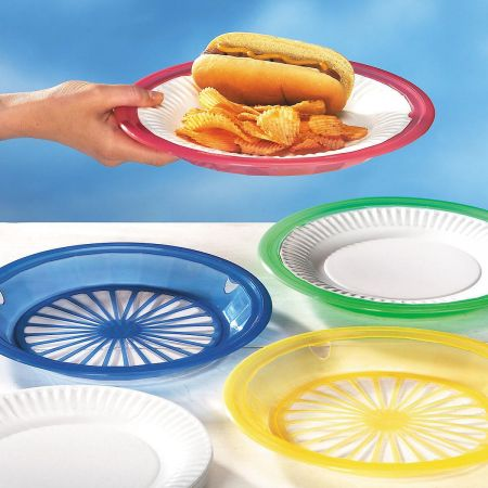 Reusable Paper Plate Holders