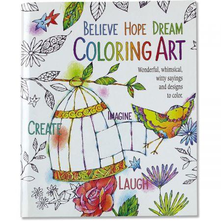 Believe Hope Dream Coloring Art Book