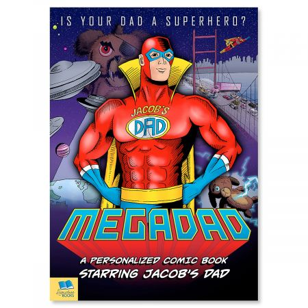 Mega Dad Personalized Comic Book