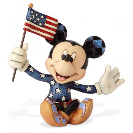 Mini Patriotic Mickey Mouse Figurine by Jim Shore