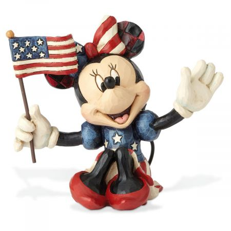 Mini Patriotic Minnie Mouse Figurine by Jim Shore
