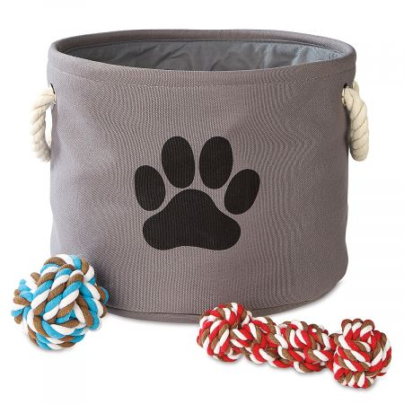 Round Pet Toy Bin by Current Catalog