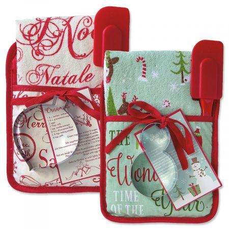 Holiday Pocket Oven Mitt Set