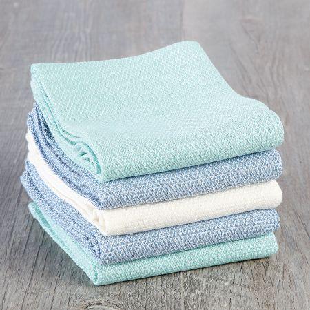 Coastal Colors Diamond Weave Tea Towels