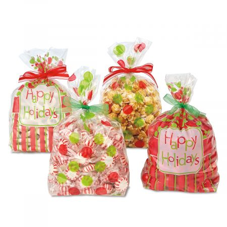 Happy Holidays Cello Bags