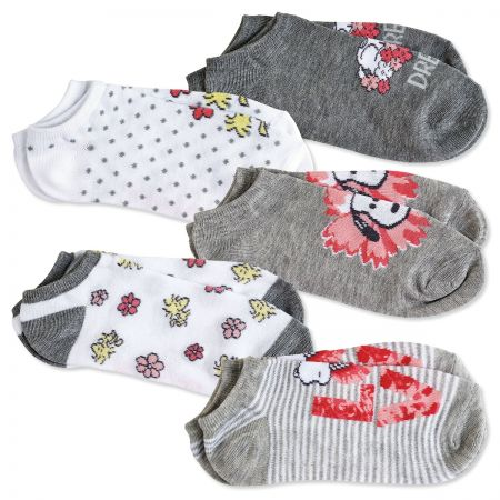 PEANUTS Love Socks Chic design. One size fits most. Polyester/ spandex; machine wash/dry. Imported. High Point Design and 2020 Peanuts Worldwide LLC