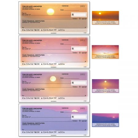 Sunset Splendor Duplicate Checks With Matching Address Labels