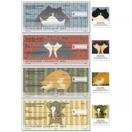 Cozy Cats Duplicate Checks With Matching Address Labels