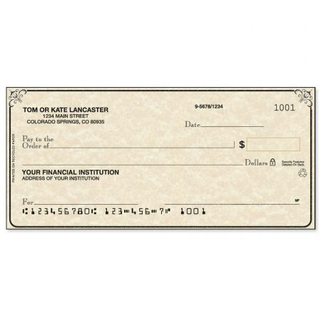 Antique Single Checks