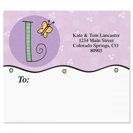 Sue Dreamer Initials Mailing Package Label