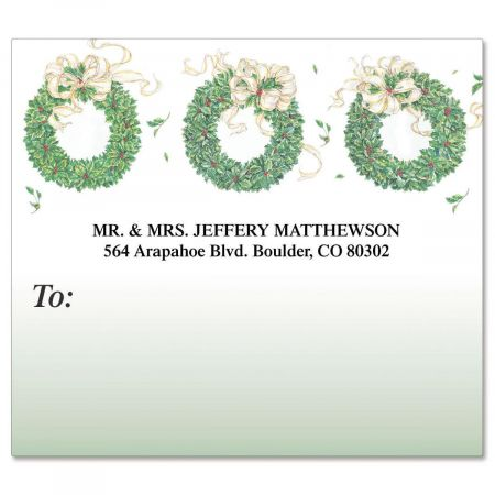 Wreath Package Label
