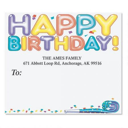 Happy Birthday Mailing Package Label