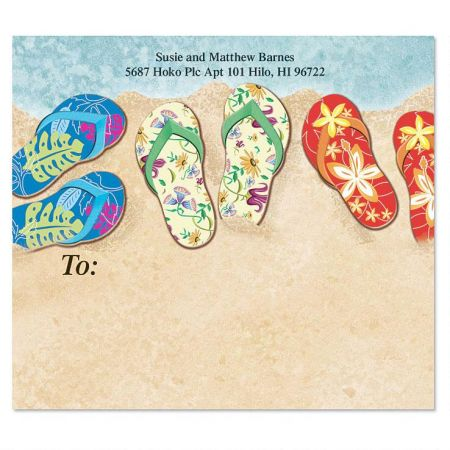 Baja Flip Flops Mailing Package Label