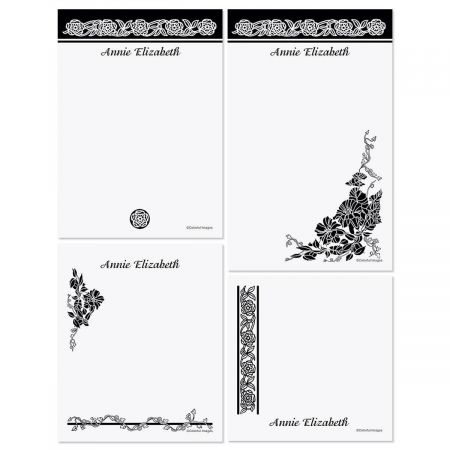 Black & White Memo Pad Sets