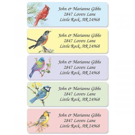 Birds Rolled Address Label  (5 designs)