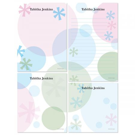 Retro Patterns Memo Pad Sets