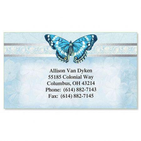 Blue Beauty Foil Calling Card