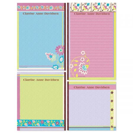 Floral Patterns Memo Pad Sets