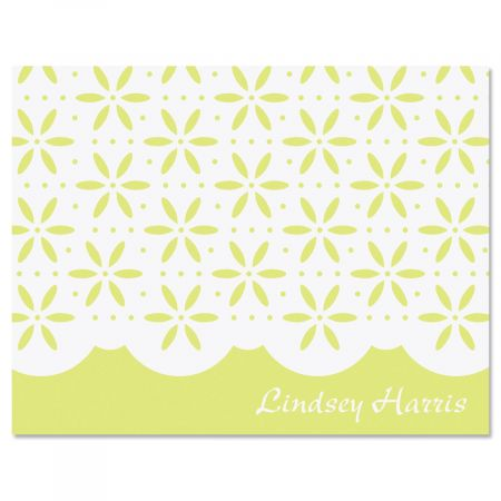 Athena Personalized Note Cards-Green-475936A