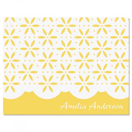 Athena Personalized Note Cards-Yellow-475936B
