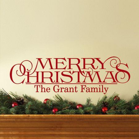 Merry Christmas Vinyl Wall Lettering