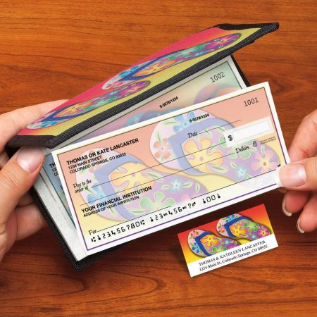 Flip-Flops Fun Side-Tear Duplicate Checks with Matching Address Labels