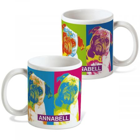 Pop Art Puppies Personalized Mug - 27 Breeds