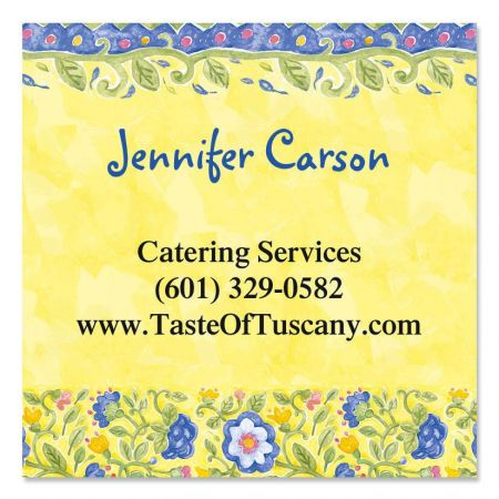 Tuscan Sun Square Calling Card
