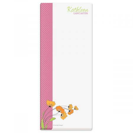 Wild Poppies Custom Memo Pads  (3 colors)