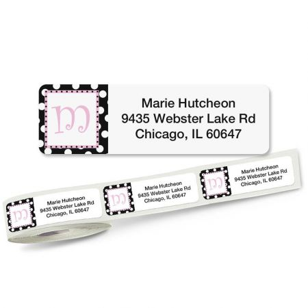 Leeza Single Initial Rolled Address Labels