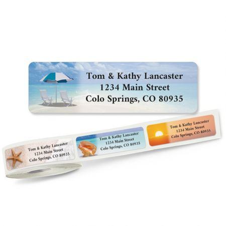 Calm Seas Rolled Address Labels  (5 Designs)