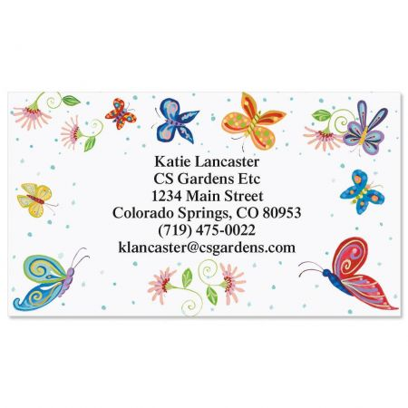 Floral Butterflies Standard Calling Card