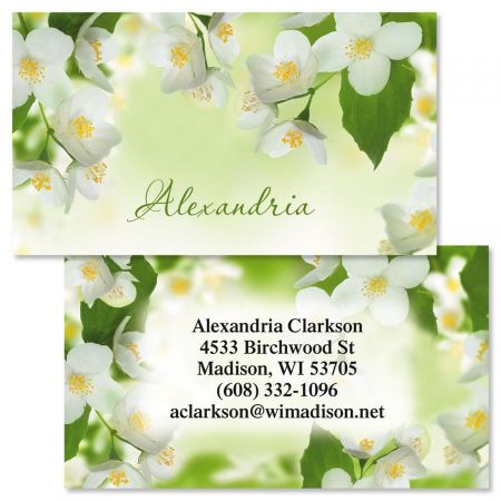 Jasmine Two-Sided Calling Card