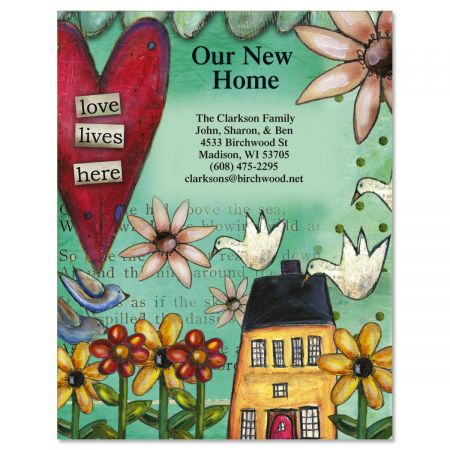Love Lives Here New Address Postcards