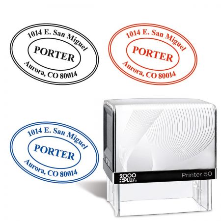 Oval Self-Inking Address Stamp