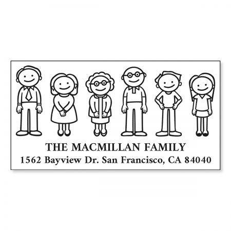 Our Family Pre-Inking Address Stamp