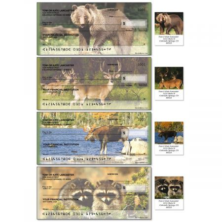 Wildlife II Single Checks With Matching Address Labels