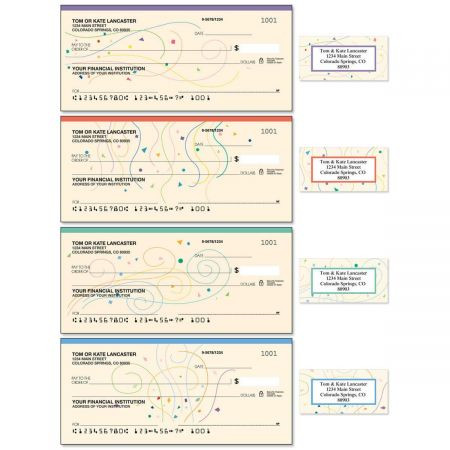 Confetti Single Checks With Matching Address Labels