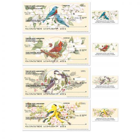 Birds & Blossoms Checks