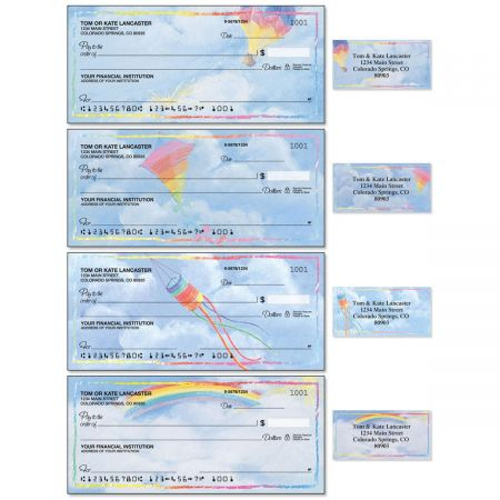 Bright Skies Single Checks With Matching Address Labels